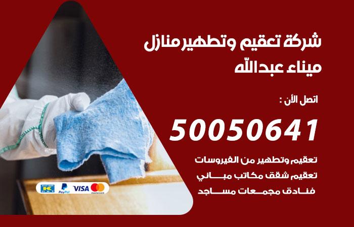 شركة تعقيم منازل ميناء عبدالله